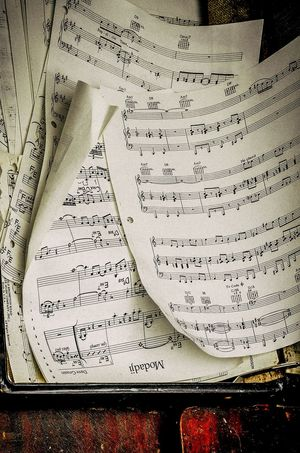 Music Text Communication Western Script Indoors  No People Paper Close-up Still Life Page Book Information Handwriting