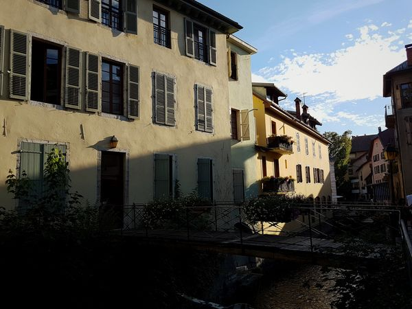 Old Bridge And Water Old City Building River In The City Late Evening Light And Shadows Sunlight And Shadow Building Exterior Architecture House Window Outdoors Day Sky Built Structure No People City