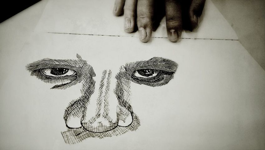 Attempting to combine with nose Hand Drawing Sketch Eyes The Tree Academy