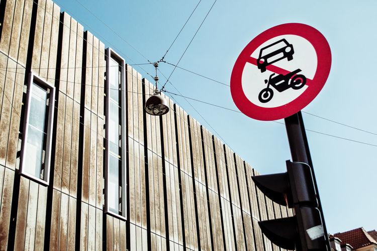 Capital Capital Cities  City Cityscape Copen Copenhagen Denmark Europe Forbid NoCar Roadway Sign Route Sign Street Urban