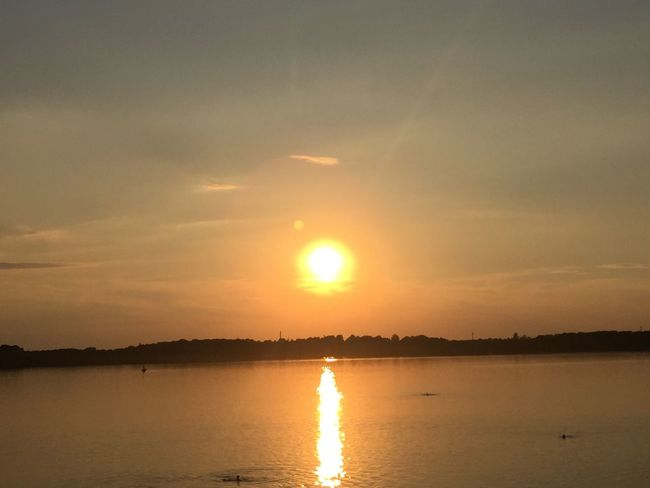 Sunset Water Sunset Sky Scenics - Nature Beauty In Nature Reflection Tranquility Silhouette Romantic Sky Orange Color No People Non-urban Scene Idyllic Nature Sunlight Cloud - Sky Tranquil Scene Sun Lake Outdoors