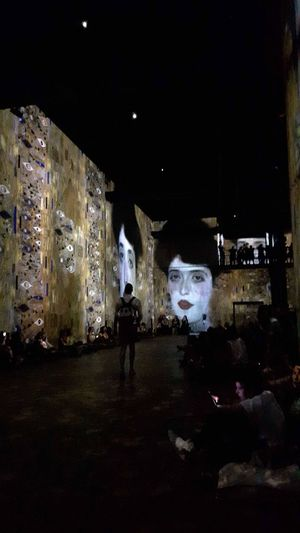 Museum Exposition Gustav Klimt Video On The Walls On The Floor People People Sitting Great Atmosphere Great Moment Great Artist