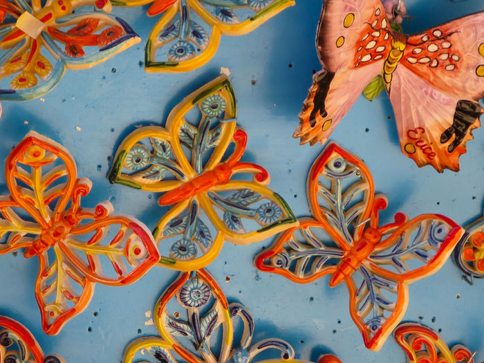Butterfly Butterfly Collection Colour Colour Of Life Colourful Colours Erice Gift Shop Pattern Repetition Sicily Souvenir Souvenirs Trinacria