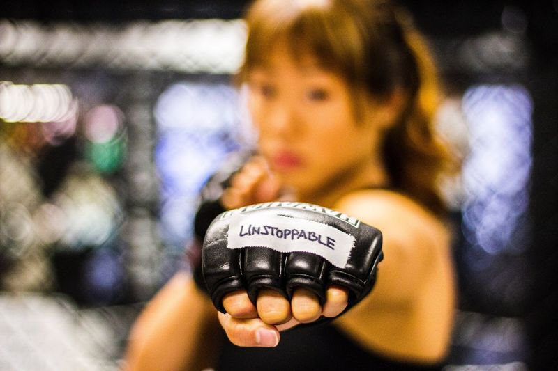 "From a shoot I did for Kollaboration New York featuring MMA champ Angela ""Unstoppable"" Lee Communication Text Number Selective Focus Focus On Foreground Holding Close-up Person Personal Perspective MMA Angela Unstoppable Lee Martial Arts FreshonEyeem Oahu Hawaii Bokeh Dof Shallow Depth Of Field Portrait Portrait Of A Woman Portraits Followfriday"