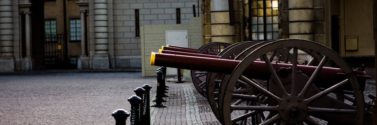 Fire! Architecture Artillery Weapon Canon Day History No People Outdoors Stockholm, Sweden