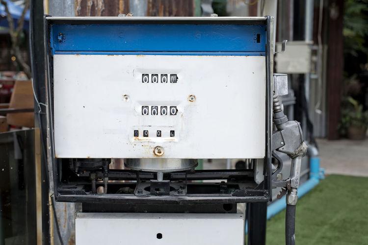 Full frame shot of meter on fuel pump