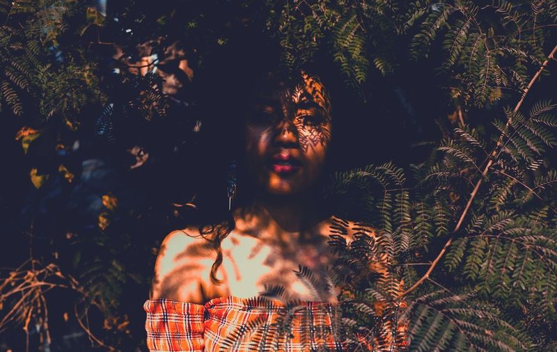 jungle tales The Fashion Photographer - 2018 EyeEm Awards Tree Young Women Women Human Hand Portrait Rural Scene Forest Females Standing Friendship Flower Head Blooming