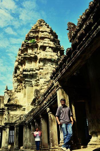 Inside Angkor Wat Thats Me  Angkor Wat Temple Cambodia Backpacking