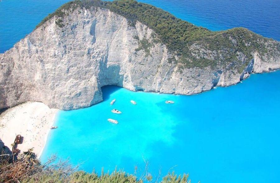 Spiaggia del naufragio Water Sea Rock - Object Scenics Nature Beauty In Nature Blue Tranquility Nautical Vessel Beach Sun ☀ Zante Greece Island Travel Goodplace