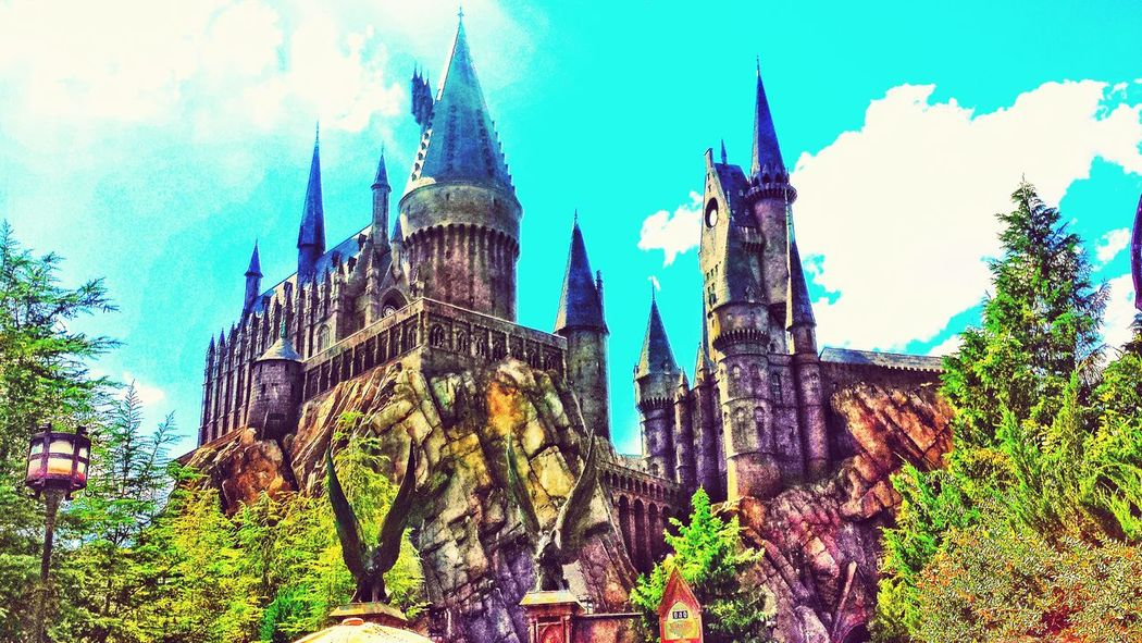 Harry Potter Castle Best View Daylight Sky Lovely Beauty In Nature Beautiful Vacation Time Parks Universal Studios Orlando Best Vacation Florida Horizon
