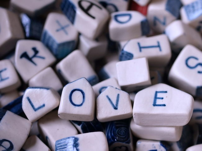 The word love is from the letters made of ceramic. Feeling Fondness Relationship Sentimental Swimming Text Word Abstract Adore Affection Backgrounds Concept Depiction Design Emotion Intimacy Like Lust Style Symbol True