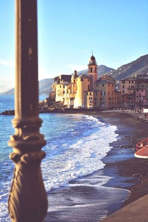 Water Sky Travel Destinations Religion Tourism Travel No People History Blue Architecture Day Vacations Outdoors Clear Sky Beach Cityscape Sea City Building Exterior Politics And Government Italy Camogli Camogli,Italy,Liguria