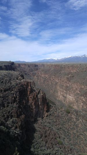 Nature Beauty In Nature Outdoors Sky Cloud - Sky Day Landscape The Secret Spaces Taos New Mexico Taos Gorge Bridge Gorge Bridge Mountain Depths Heights River Neighborhood Map Lost In The Landscape Perspectives On Nature