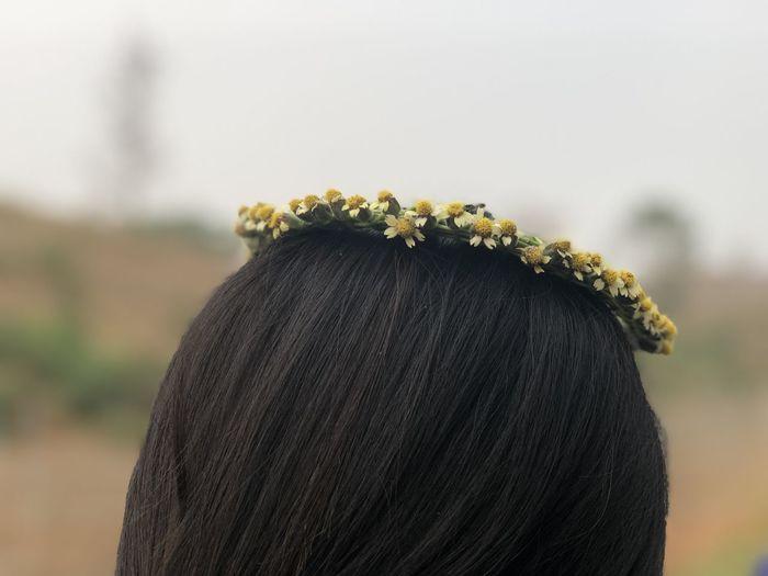 Close-up of women wearing wreath