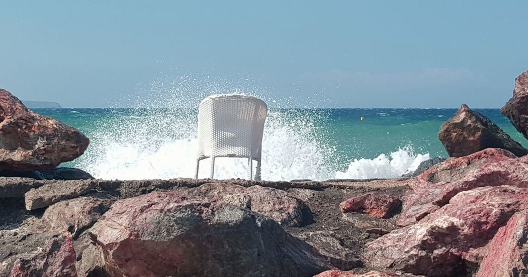 sun sea blue spindrift spray spume froth fresh Santorini Greece Photography In Motion Sun Sea Spindrift Ocean Water Blue Chair Wet Spindrift Spray Spume