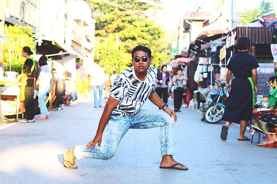 Hipster Walkingstreet Man Thailand Loei,thailand