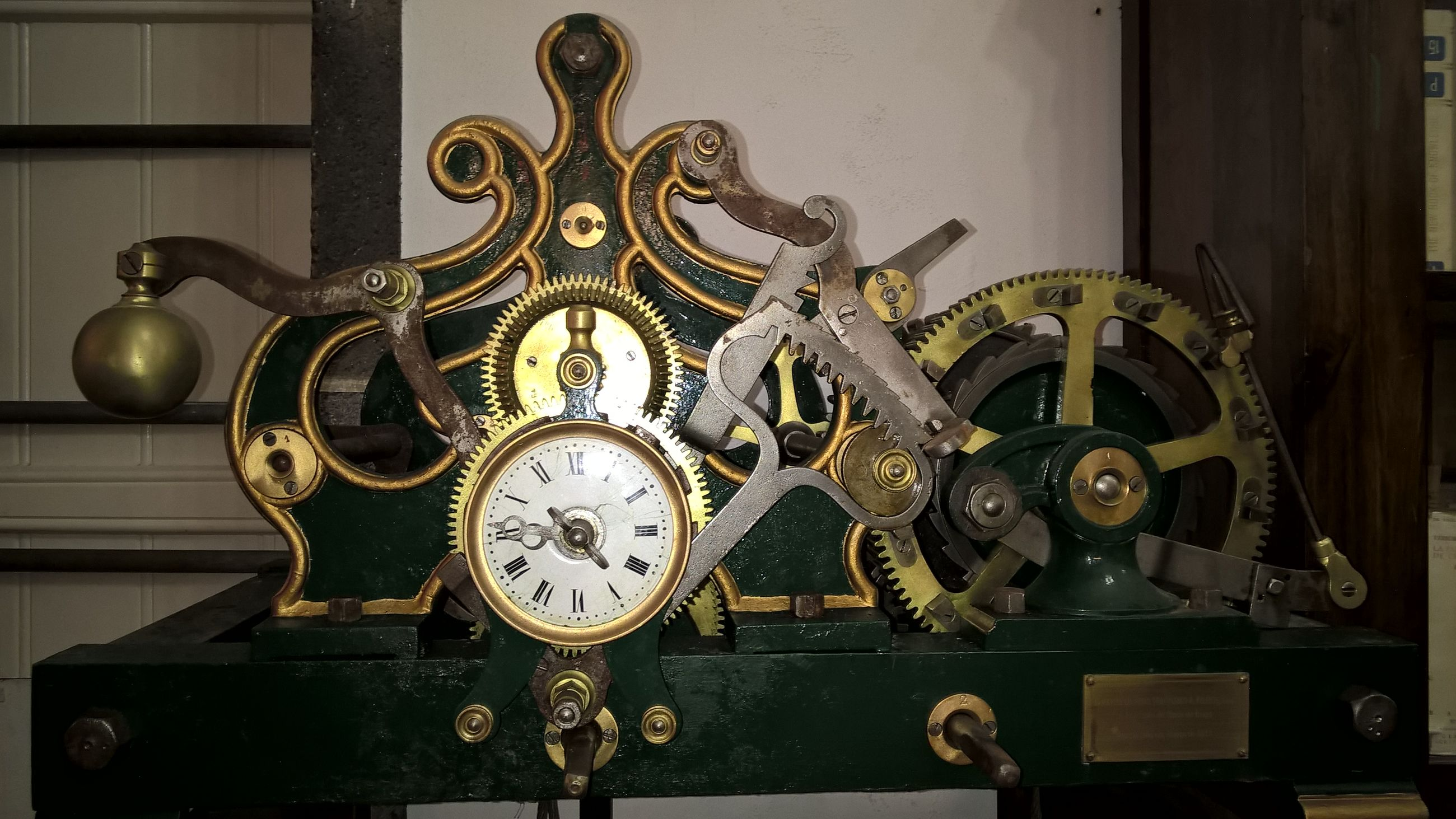 indoors, antique, old-fashioned, clock, retro styled, time, wall - building feature, old, art and craft, metal, art, close-up, technology, built structure, number, ornate, no people, architecture, creativity, hanging