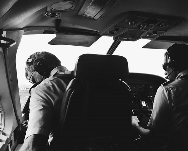 """We're ready for take off"" Pilot Flying Travel Privateplane Candid Noir"
