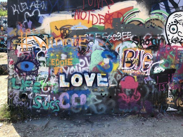Graffiti Park Love Graffiti Multi Colored Mural No People Outdoors Love Graffiti Multi Colored Mural No People Outdoors