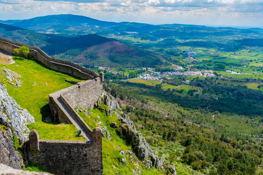 Castelo de Marvão Ancient Civilization Architecture Beauty In Nature Built Structure Day Environment Green Color History Land Landscape Mountain Nature No People Non-urban Scene Outdoors Plant Scenics - Nature Sky Stone Wall The Past Tranquil Scene Tranquility Tree