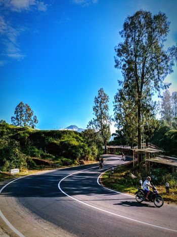 Street Road view Mountain EyeEm Nature Lover EyeEm Selects EyeEm Best Shots INDONESIA Indonesia_photography Asian  Exploreindonesia Pesonaindonesia Wonderfulindonesia PanoramaIndonesia Skyblue Amazing_shots Earth Earth_shotz Earthfocus Landscapephotography Tree Road City Clear Sky Sky Traffic Circle Road Marking Zebra Crossing Bicycle Lane Asphalt White Line Road Sign Pedestrian Crossing Sign Crosswalk Crossing Dividing Line Yellow Line Double Yellow Line The Way Forward Country Road Roadways Speed Limit Sign Traffic Arrow Sign Parking Empty Road Do Not Enter Sign Vehicle Light Treelined Growing
