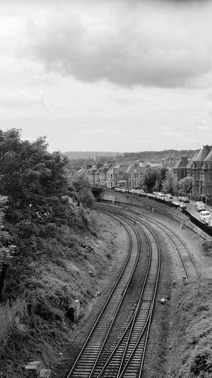 Black & White Railway Tracks Blackandwhite Photography Travelling Train Tracks Black And White City Life