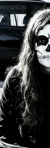 Skull Skull Face Carnival Faceart Facepaint Facepainting FirstEyeEmPic First Eyeem Photo 😚 Made By Me