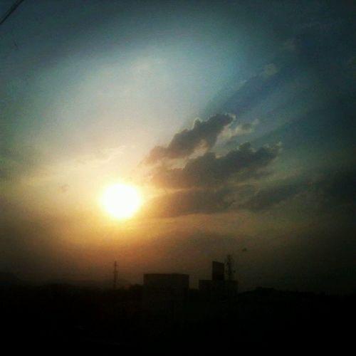 Sunset Sky Clouds Sun Nashikgram Instanashik Instapic Instasunset Mobileclick