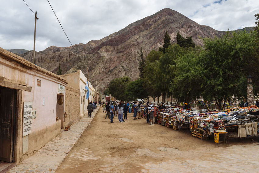 Andes Argentina Crafts Jujuy Province Large Group Of People Mountain Outdoors Pedestrian Walkway Purmamarca Streetphotography Vacations Village