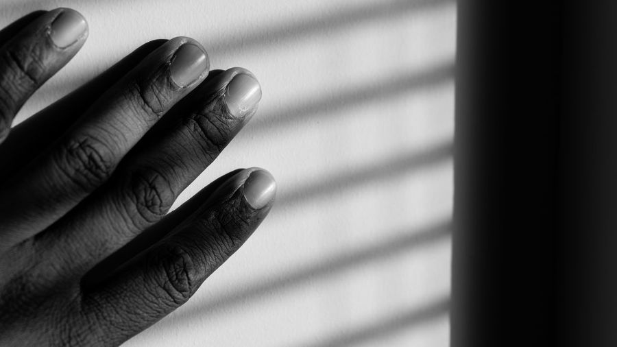 Four. Black And White Photography Light And Shadow Pattern Hand Body Part Fingers Self Portrait Sony A6000 Project365