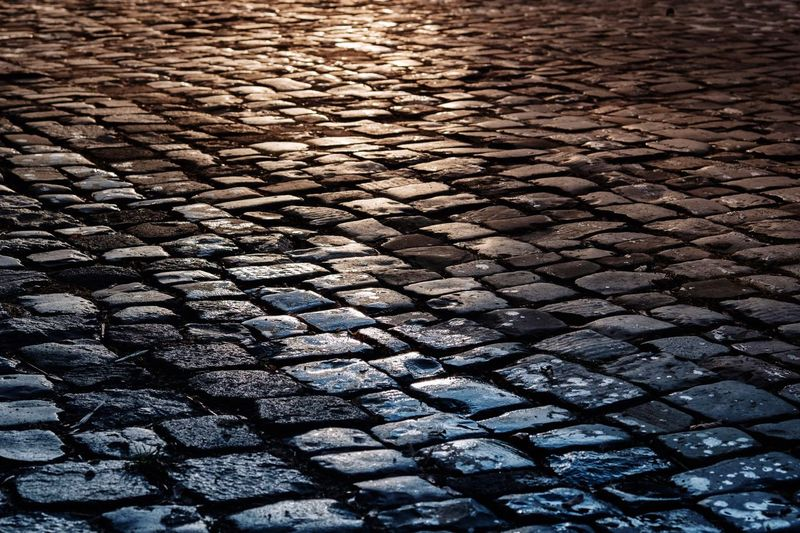 Cobblestone Street Cobbled Outdoors Textured  No People Nature Day Architecture Showcase: March Tenebrio.photos Fuji-xe2s Zeiss Planar 60mm