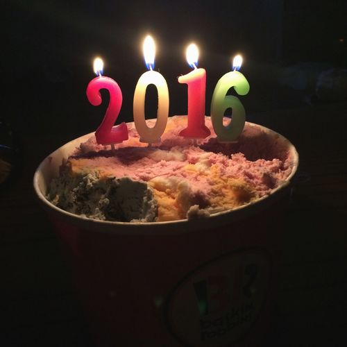 happy new year<3~ Happynewyear Ice Cream 2016 Candles First Eyeem Photo