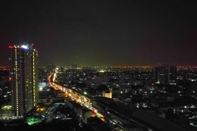 Bts Bangwa Night Long Exposure Building Exterior