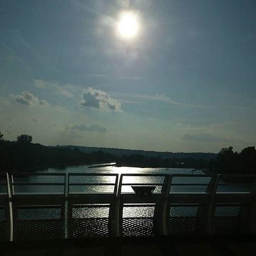 Prague River Bridge Beautiful sun nofilter sky water instagood