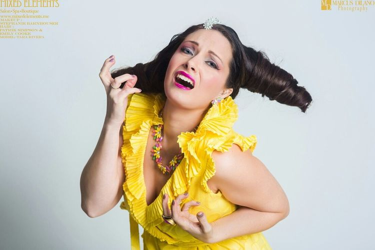 Tara Beauty Modeling Model Photoshoot ♡ Fashion Hairstyle Makeup Yellow Color Portrait Popular Photos