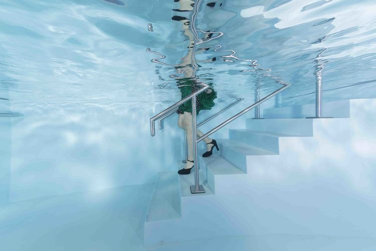 let's go .... swimming pool underwater photoshooting Fashion Stairs Blue Indoors  Low Angle View Poolphotography Reflection Staircase Swimming Pool Underwater Underwaterphotography Water The Still Life Photographer - 2018 EyeEm Awards