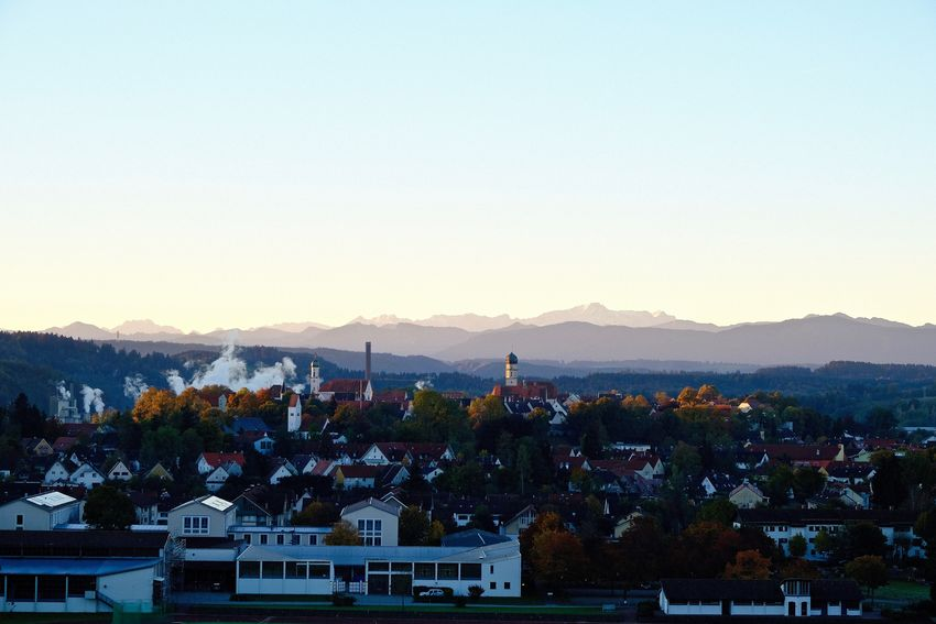 MyHometown ❤️ Cityscape Clear Sky Mountain Mountain Range Nature Outdoors Pfaffenwinkel Residential District Schongau TOWNSCAPE