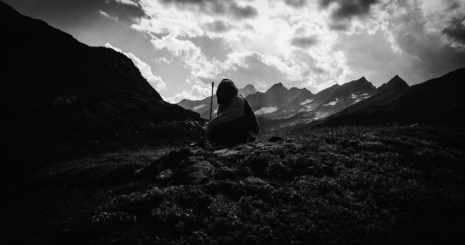 Grim Reaper. Mobile Photography Open Edit Mountains And Sky Silhouette Light And Shadow Darkness And Light Black And White Monochrome Travel Outdoors Monochrome Photography TakeoverContrast