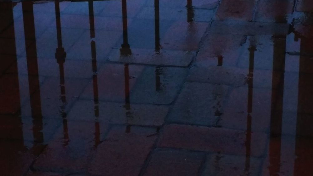 Skew Lines Reflection No People Outdoors Rain Rainy Day Rainy Days Puddle Reflections Bricks Dusk Tucson Lg G5 Ryrygreen Ryan GREEN Close-up Shadowplay Silhouette Shadows Shadows And Silhouettes Shadow-art Overcast Wrought Iron Wrought-iron Wrought Iron Railing Wrought Iron Gate