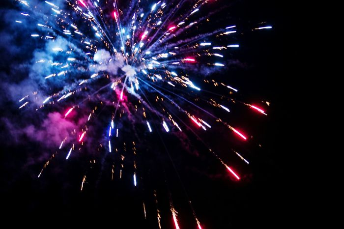 Shooting some of the neighbors' fireworks last Independence Day. Firework Display Night Celebration Firework - Man Made Object Arts Culture And Entertainment Low Angle View Multi Colored No People Outdoors Sky Full Frame Googleimages
