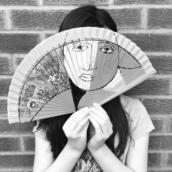 One Person Holding Real People Day Child Young Girl Black And White Fan Face Hidden Hiding Hiding Face Outdoors People Headshot Only Women One Young Woman Only Human Body Part Young Adult Close-up Human Hand The Week On EyeEm Mix Yourself A Good Time