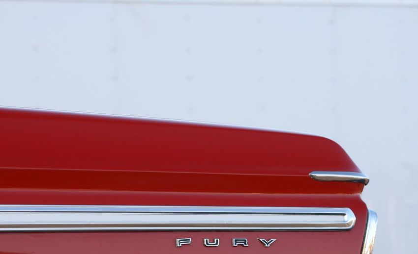 Classic Car Ford Plymouth Fury No Filters Or Effects Car Chrome Classic Lines Close-up Day Land Vehicle Mode Of Transport No People Outdoors Red Red Car Straight Lines Transportation White Background The Week On EyeEm Gridlove