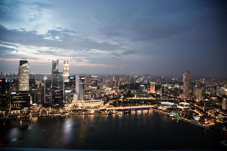 Building Exterior Architecture Sky Built Structure City Cityscape Building Illuminated Water Cloud - Sky Urban Skyline Office Building Exterior Skyscraper No People Modern Outdoors Financial District  Singapore Marina Bay Sands Infinity Pool Singapore Hotel Luxury Hotel Luxury Night City Lights Singapore Skyline