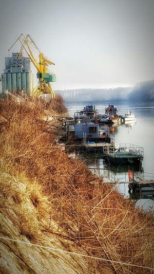 Industry Nautical Vessel Outdoors Danube Cranes