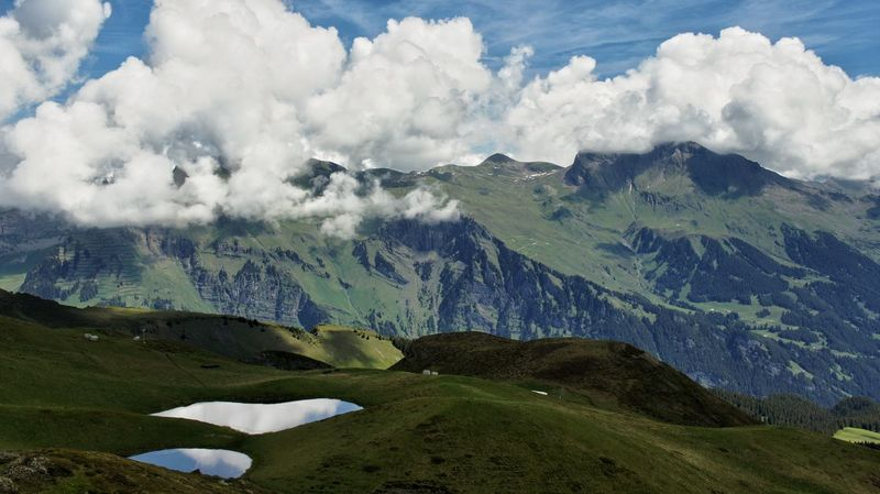 Switzerland Mountain Mountain View Cloud Blue Sky Landscape_photography Summer ☀ Nature_perfection Nature Photography High