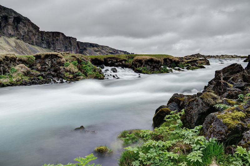 Iceland Iceland Memories Beauty In Nature Cloud - Sky Day Iceland Trip Iceland_collection Nature No People Outdoors Rock - Object Scenics Sky Water Waterfall