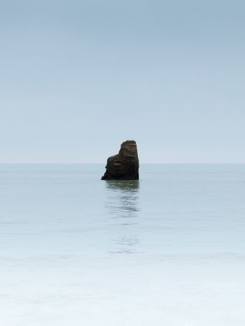 Minimalist Minimal Minimalism Sea Tranquility Nature Water Tranquil Scene Horizon Over Water Scenics Beauty In Nature Rock Formation Clear Sky Outdoors