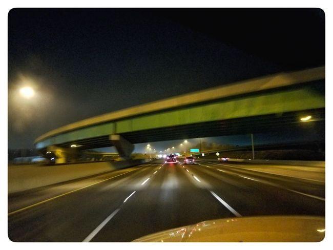 Car Transportation Road Illuminated Highway Night Land Vehicle