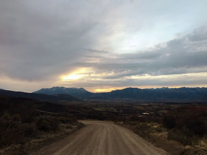 daylight savings hits next week. documenting the evening commute before lights out. Wasatch Mountains Wasatch County Utah Dirt Road Country Life