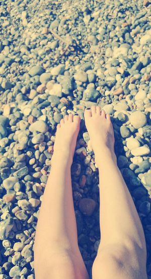 Hello World Mer Sun Picture Photography Playa Cailloux Plage Journée A La Plage  Jambes